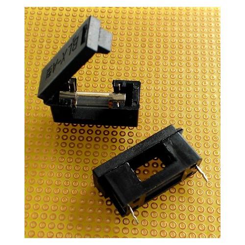 Portafusibles 5x20 mm para PCB