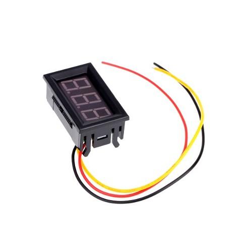 Voltimetro de 0-99.9VCD para panel