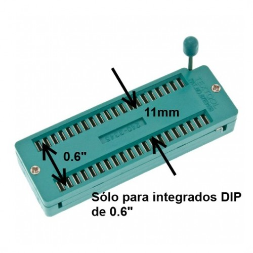 Zocalo Socket Zif40 Ancho