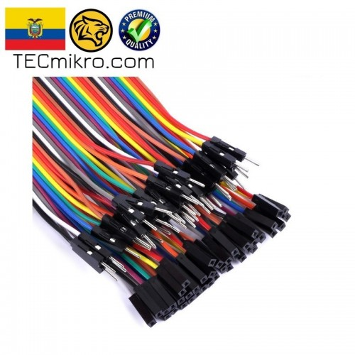 Cables 20cm para protoboard 40pzs