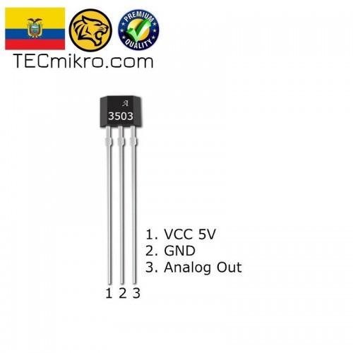 Sensor Hall analogico A3503 / A1302 / 49E