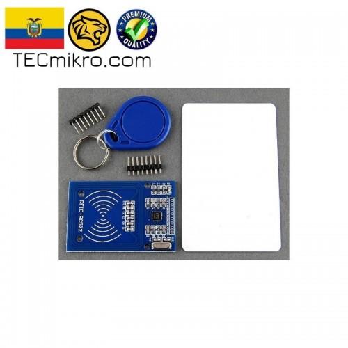 Modulo RFID RC522 con tarjeta y llavero