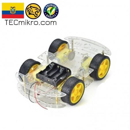Chasis de carro robot con accesorios