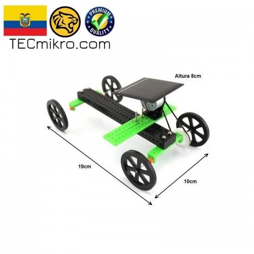 Kit de carro y motor con panel solar
