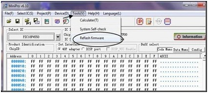 Programador de BIOS Minipro TL866: Actualizacion