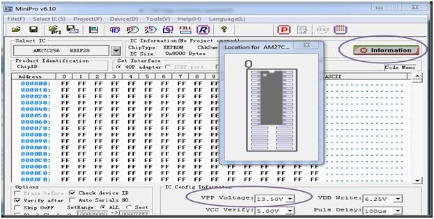 Programador de BIOS Minipro TL866: Copia de un dispositivo