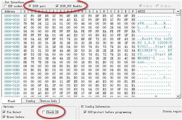 Programador de BIOS Minipro TL866: ICSP